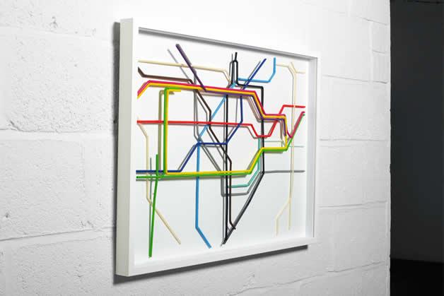 Plan du Metro de Londres en Pailles 4