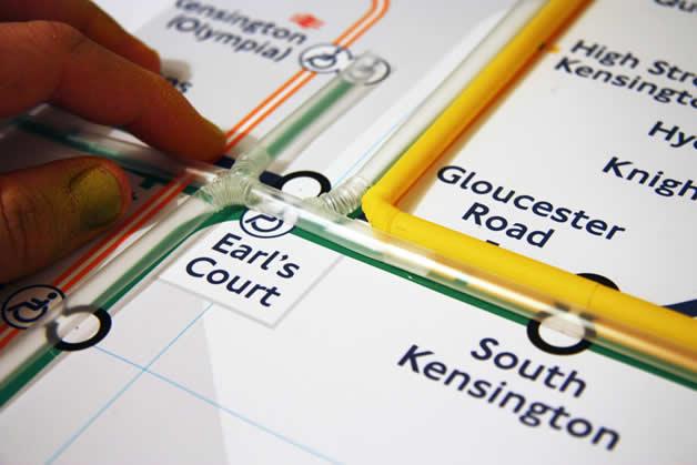 Plan du Metro de Londres en Pailles 3