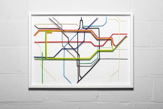 Plan du Metro de Londres en Pailles 2