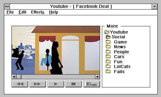 Et si nos réseaux sociaux étaient sur Windows 3.1 ? 6