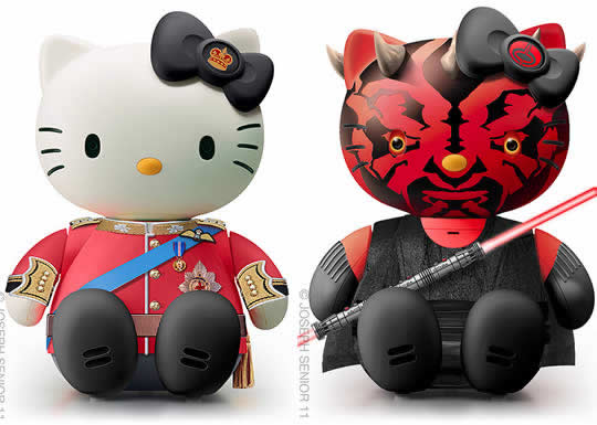 Déclinaisons d'Hello Kitty par Joseph Senio 2