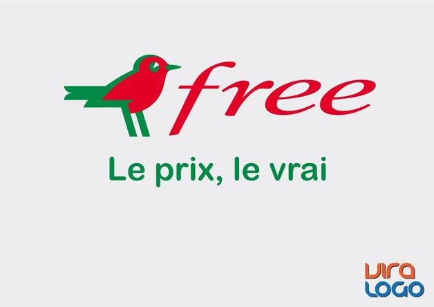 Détournements de 12 Logos suite à la sortie de #FreeMobile 2