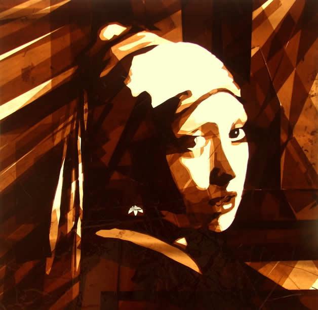 Portraits créés avec du scotch par Max Zorn - Tape Art 2