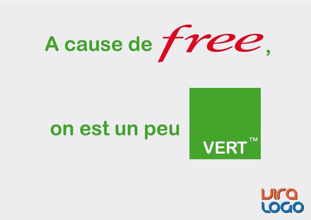 Détournements de 12 Logos suite à la sortie de #FreeMobile 8