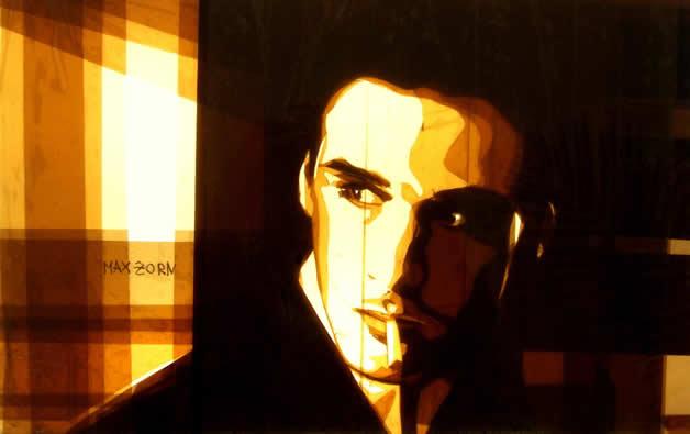 Portraits créés avec du scotch par Max Zorn - Tape Art 12