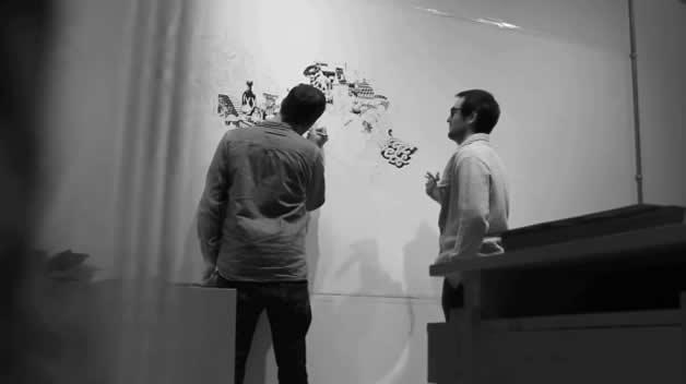 Le Buffet - Incroyable fresque de Gattoni et mcbess 3