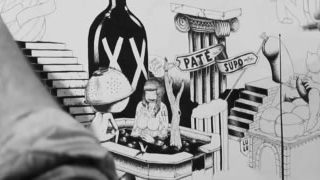 Le Buffet - Incroyable fresque de Gattoni et mcbess