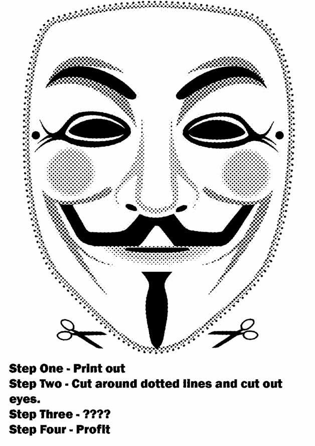 devenez un anonymous, créez et portez le masque - #olybop