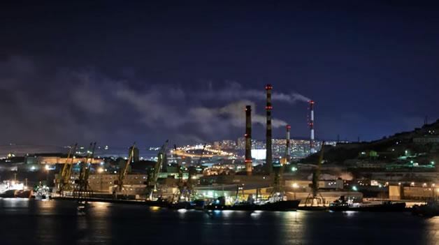 Timelapse de Murmansk en Russie