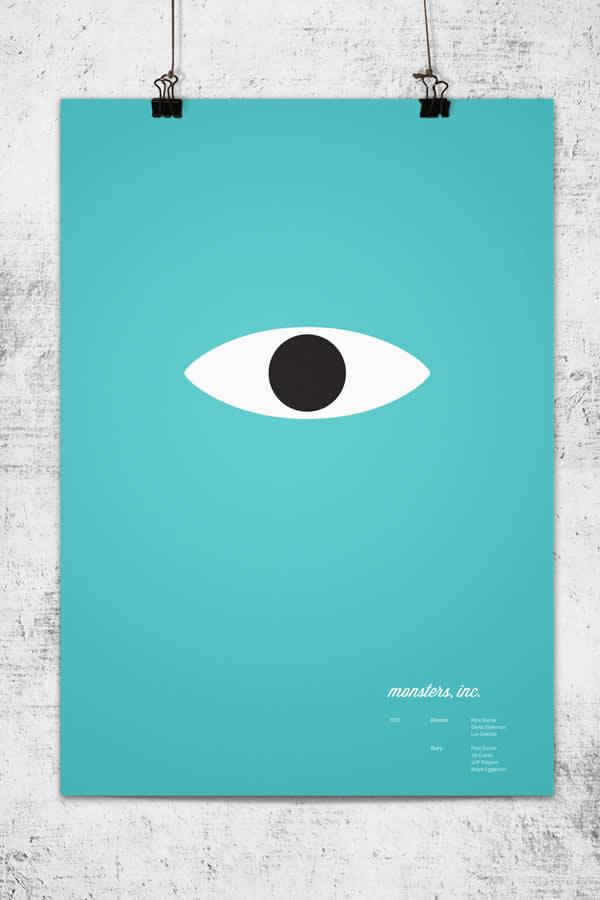 Posters minimalistes Pixar 2