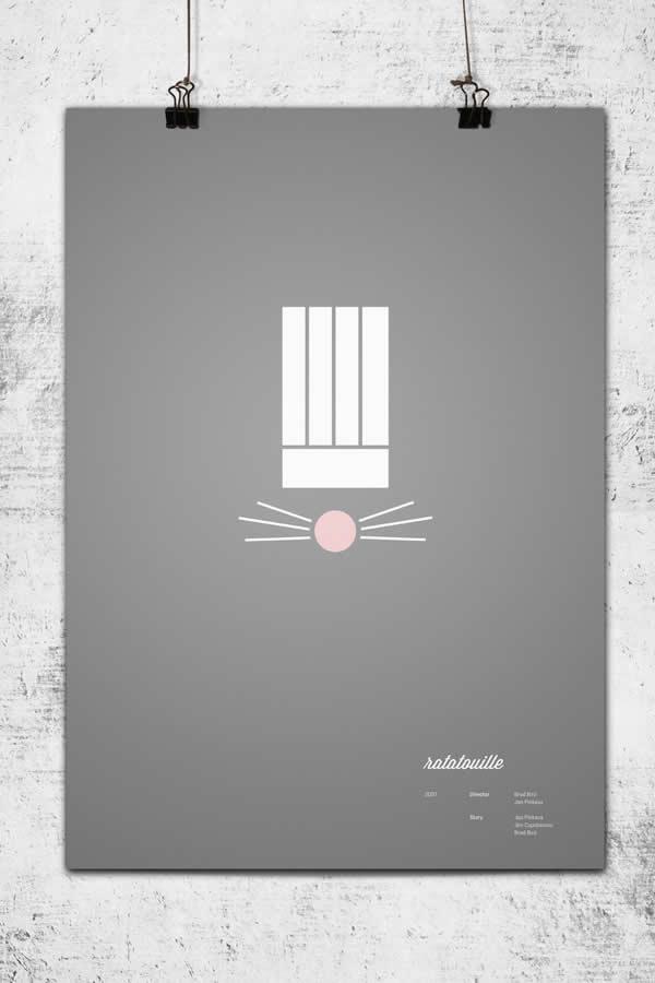 Posters minimalistes Pixar 5