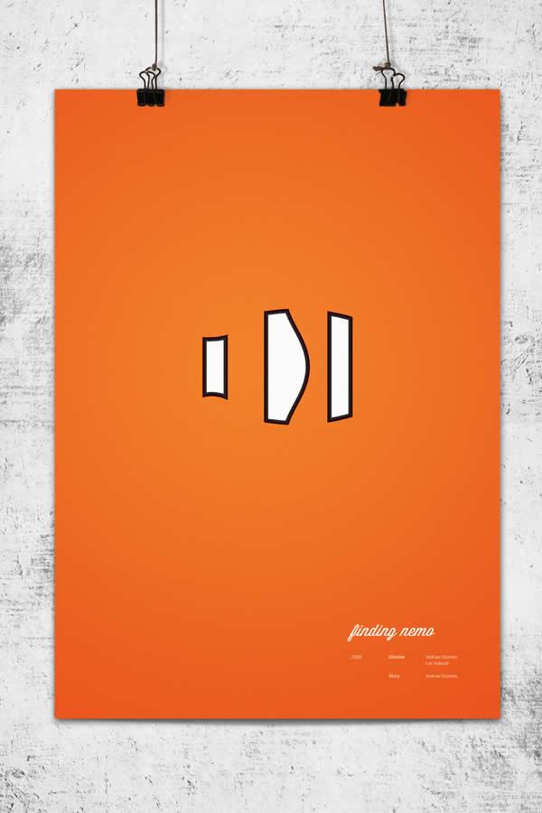 Posters minimalistes Pixar 6