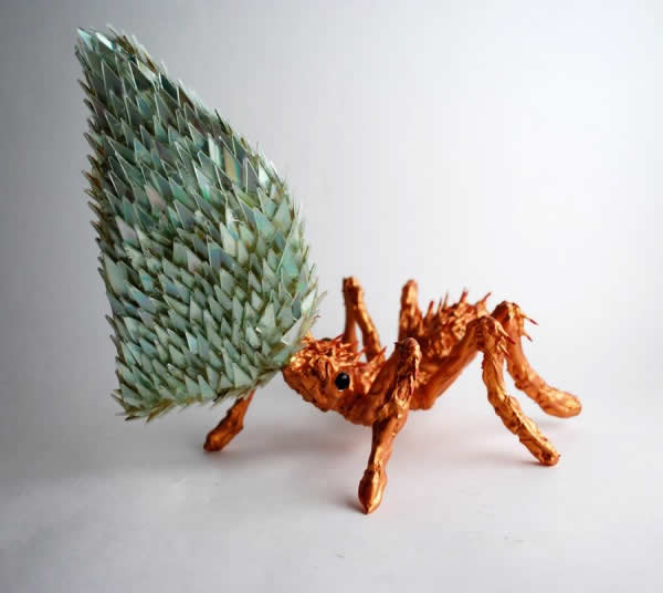 Sculptures créées avec des vieux CD 6
