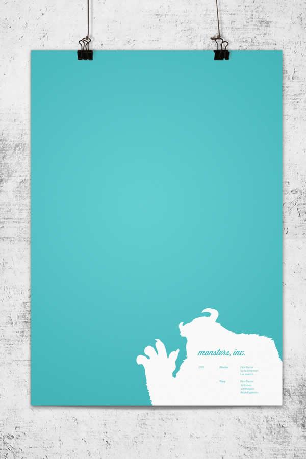 Posters minimalistes Pixar 8