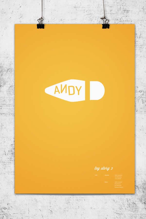 Posters minimalistes Pixar 10