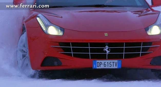 Ferrari FF sur la neige