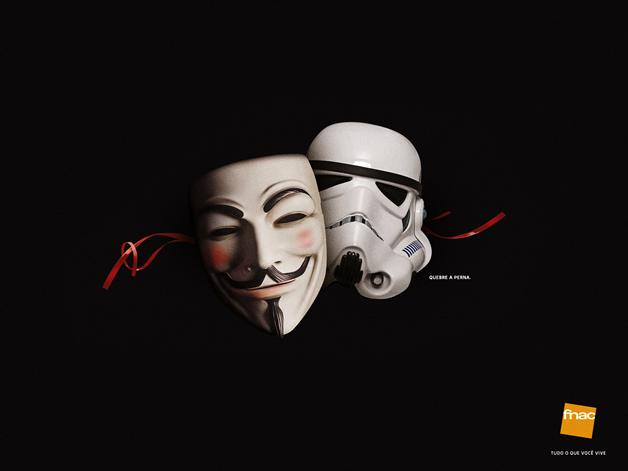 Quand les marques utilisent les phénomènes d'actualités 2012 (the artist, megaupload, anonymous...) 3