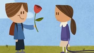 Le Doodle Google en vidéo pour la St Valentin 2012 1