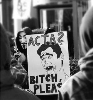 25 panneaux de protestations fun contre ACTA 9