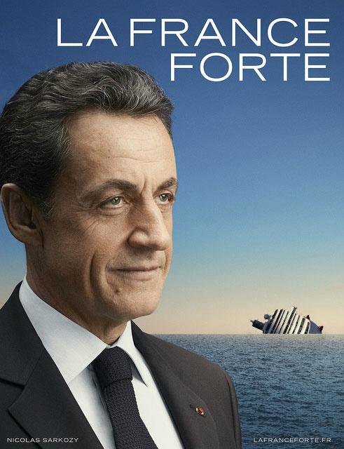 10 meilleures Parodies de l'affiche de Sarkozy : La France Forte ! 7