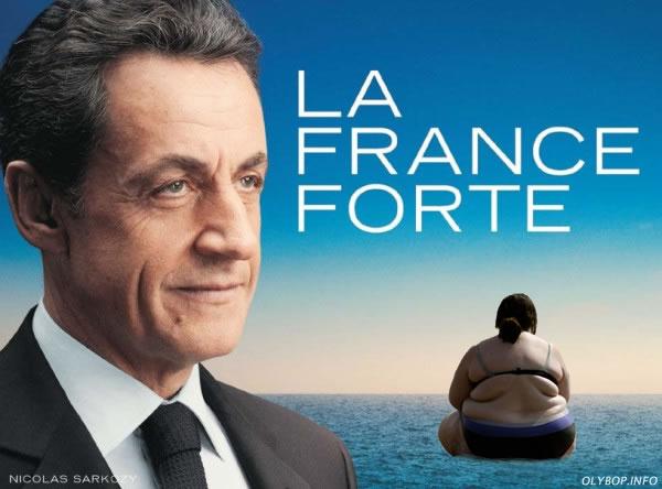 10 meilleures Parodies de l'affiche de Sarkozy : La France Forte ! 4