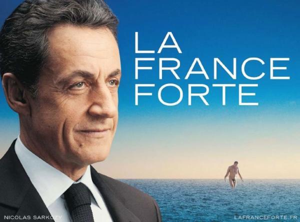 10 meilleures Parodies de l'affiche de Sarkozy : La France Forte ! 10