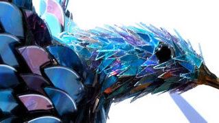 Sculptures créées avec des vieux CD