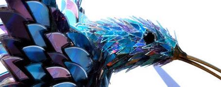 Sculptures créées avec des vieux CD 1