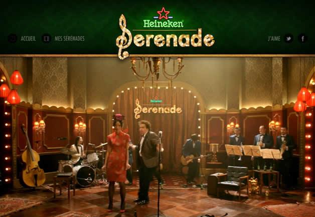 Générez votre sérénade pour la St Valentin avec Heineken.  3