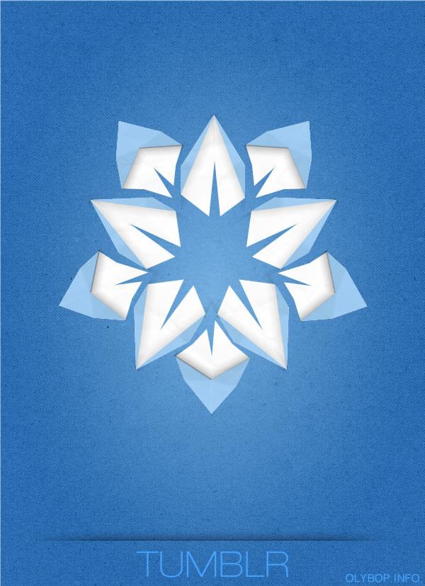 Affiches des réseaux sociaux en Origami 6