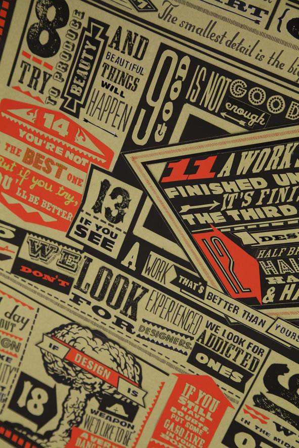 Les 18 nouveaux commandements du Designer - Poster typographique 3