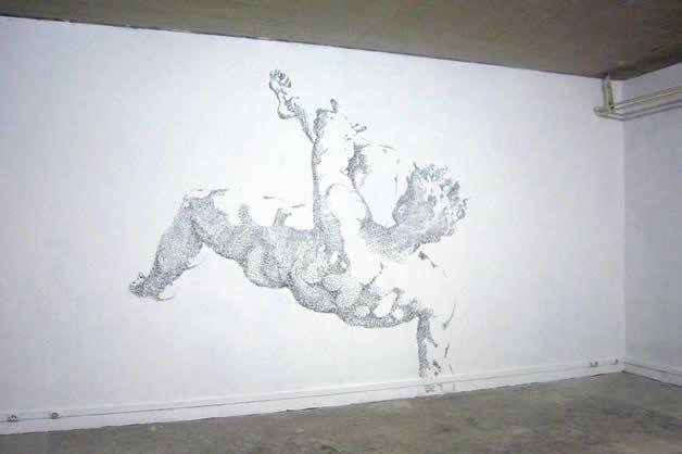 Aggravure - une fresque avec des agrafes 12