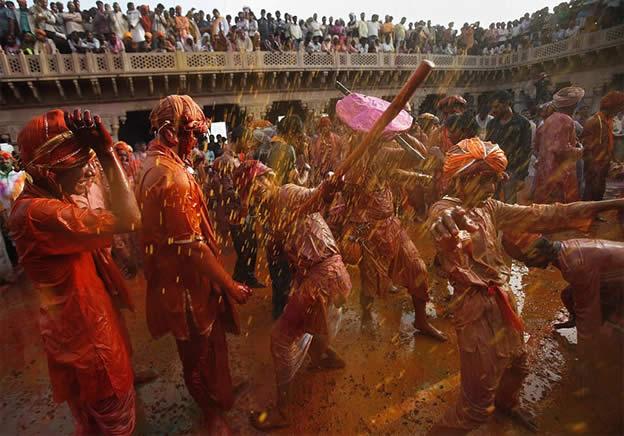 Holi Festival en Inde par Kevin Frayer 15