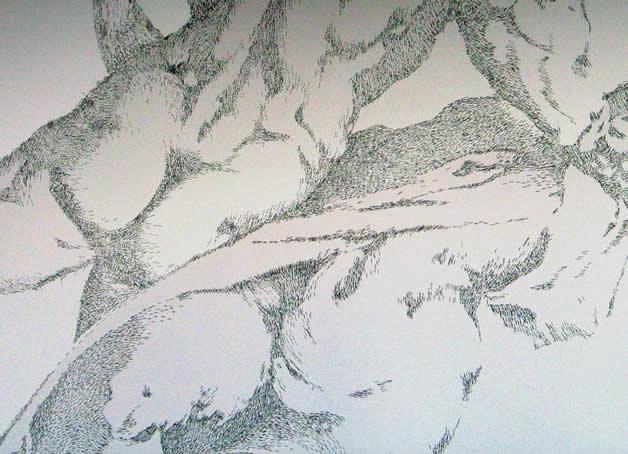 Aggravure - une fresque avec des agrafes  15