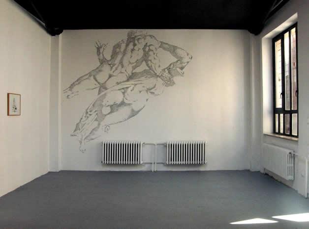 Aggravure - une fresque avec des agrafes  16