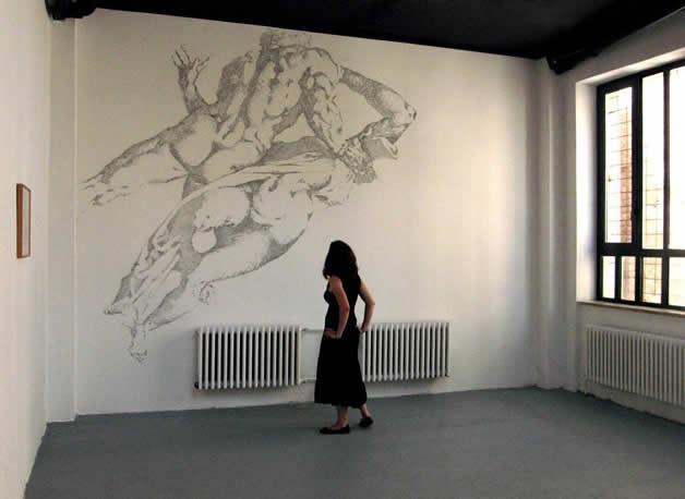 Aggravure - une fresque avec des agrafes  17