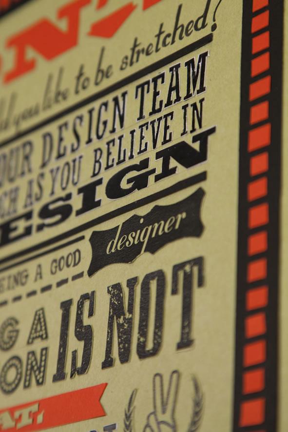 Les 18 nouveaux commandements du Designer - Poster typographique 4