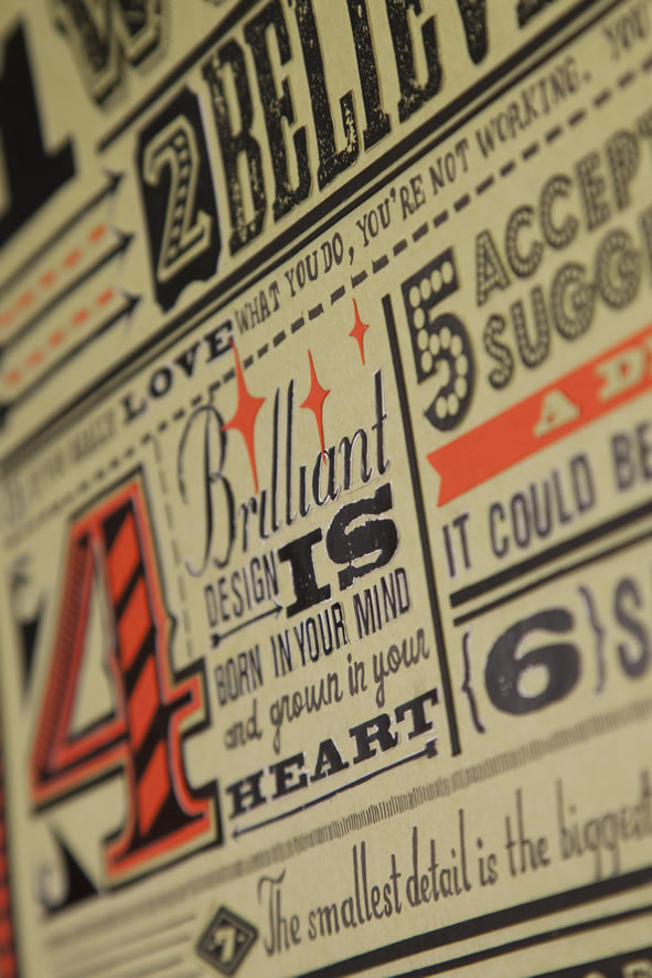 Les 18 nouveaux commandements du Designer - Poster typographique 5