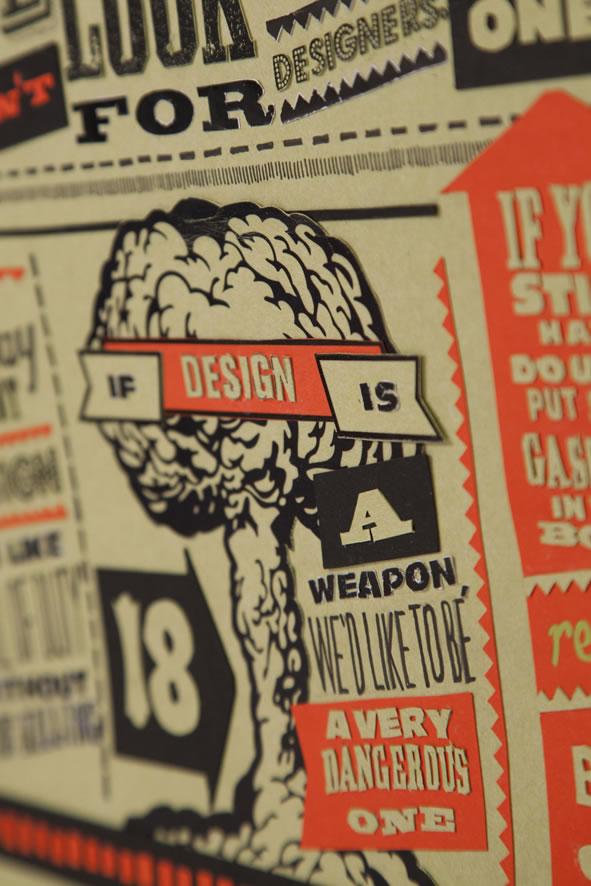 Les 18 nouveaux commandements du Designer - Poster typographique 6
