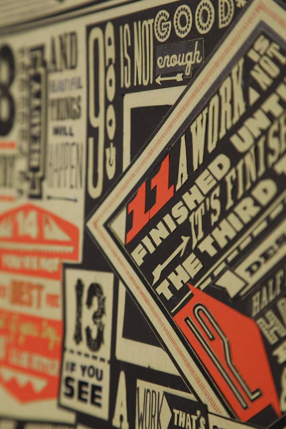 Les 18 nouveaux commandements du Designer - Poster typographique 7