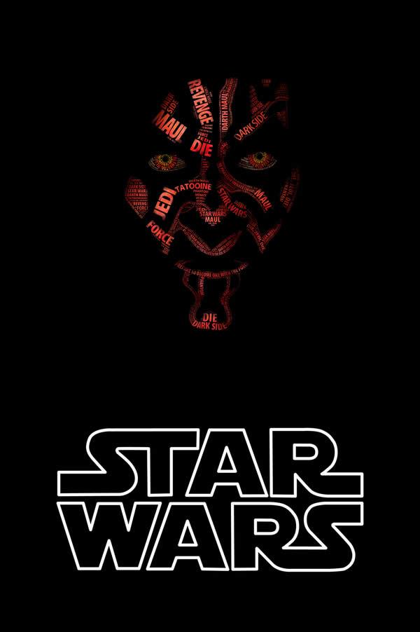 Posters Starwars en Typographie 2