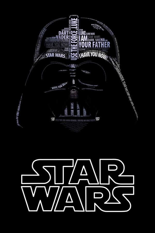 Posters Starwars en Typographie 3