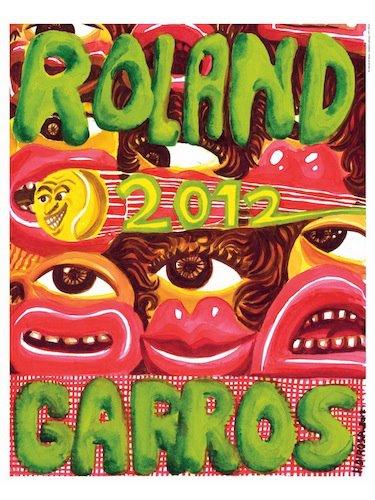 affiche roland garros 2012