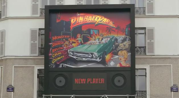 Ford fait sa pub en streetart avec Pinball 2