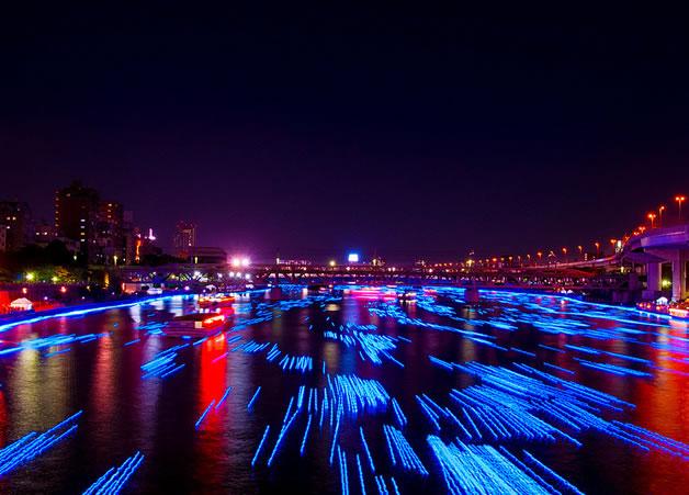 100 000 Led dans la riviere sumida à Tokyo 2