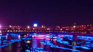 100 000 Led dans la riviere sumida à Tokyo