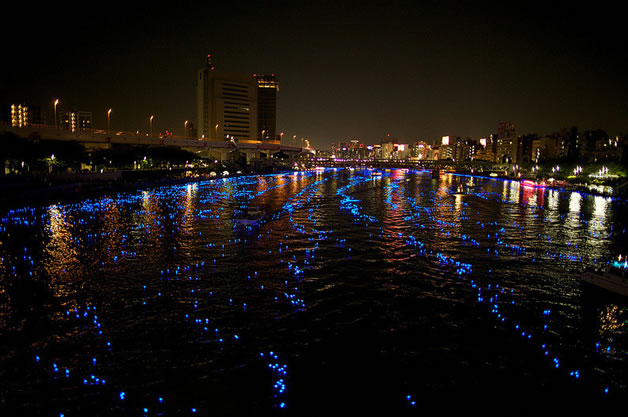 100 000 Led dans la riviere sumida à Tokyo 4