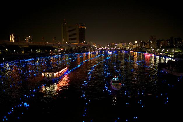 100 000 Led dans la riviere sumida à Tokyo 5