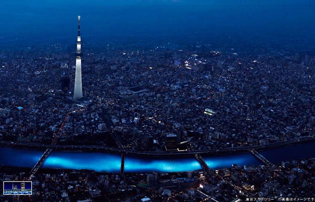 100 000 Led dans la riviere sumida à Tokyo 7