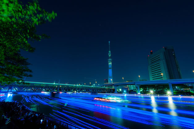 100 000 Led dans la riviere sumida à Tokyo 8